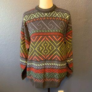 VINTAGE ST MICHAEL Multicolored Grandpa Sweater